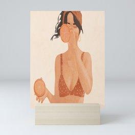 Orange Split Mini Art Print