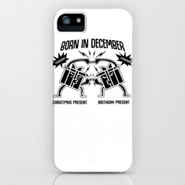 December Birthday Christmas Gift Fusion iPhone Case