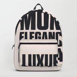 Sacha Guitry, inspirational quote, classy gentleman luxury & money, elegance & education, politeness Backpack