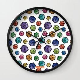 Colrful D20s Wall Clock