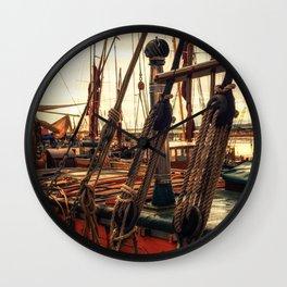 Rigging of Ancient Yachts Wall Clock