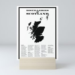 Distilleries of Scotland Mini Art Print