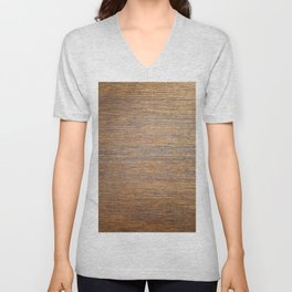 Rustic brown gold wood texture Unisex V-Neck