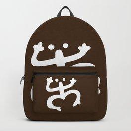 Coqui Taino - White & Brown Backpack