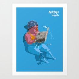 Greetings from Hungary III. Art Print