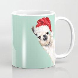 Christmas Sneaky Llama Coffee Mug