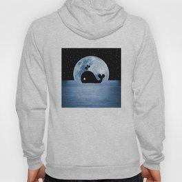 Whale Night Swim - Blue Hoody