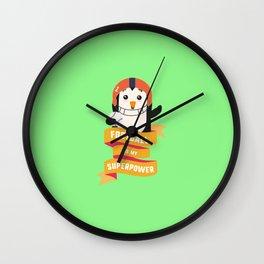 Football is my Superpower T-Shirt D4b3w Wall Clock