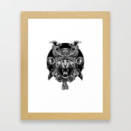 Tiger Samurai Framed Art Print