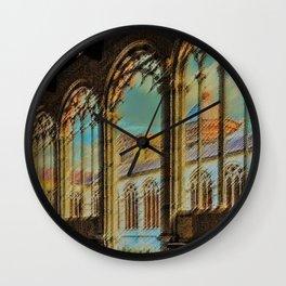 Campo Santo - Interior Courtyard Pisa Landscape by Jeanpaul Ferro Wall Clock
