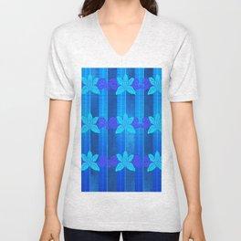 Orchid in blue Unisex V-Neck