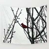 cardinal Wall Tapestries featuring Cardinal by Emma Nettles
