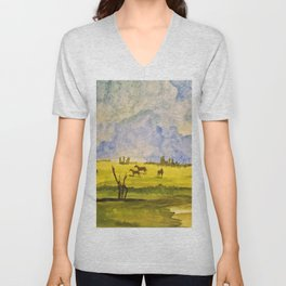 A day in the prairies Unisex V-Neck