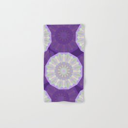 Round Iridescent Geometric Background Hand & Bath Towel