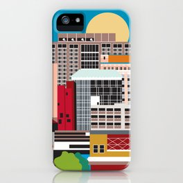 Birmingham, Alabama - Skyline Illustration by Loose Petals iPhone Case