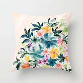 SMELLS LIKE BECKONING Floral Throw Pillow