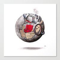 globe Canvas Prints featuring globe by Paradox