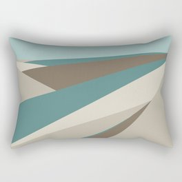 Geometric Plane - Blue Neutral Rectangular Pillow