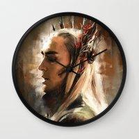 thranduil Wall Clocks featuring King Thranduil by Wisesnail