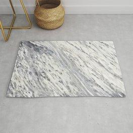 Elegant vintage rustic gray white trendy marble Rug