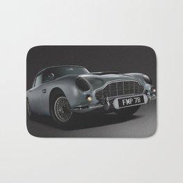 Aston Martin DB5 Digital Painting   Automotive   Cars Bath Mat