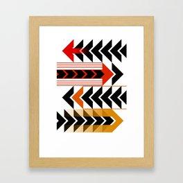 Colourful Arrows Graphic Art Design Framed Art Print