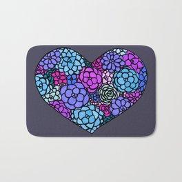 Heart Blooms Bath Mat