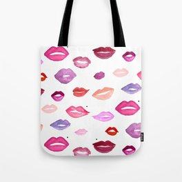 Watercolor Lips Tote Bag