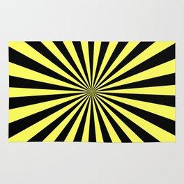 Starburst (Black & Yellow Pattern) Rug