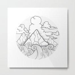 Earth, Sea and Sky Metal Print