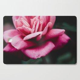 Moody Pink Rose Cutting Board