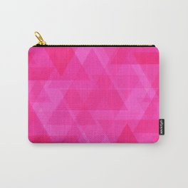 Bright pink triangles in intersection and overlay. Carry-All Pouch
