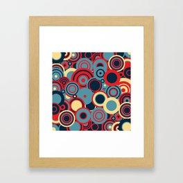 circles-red-blue-cream Framed Art Print