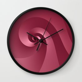 Rose-colored Wave Wall Clock