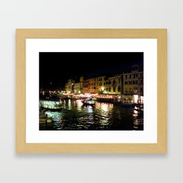 A night at the Grand Canal Framed Art Print