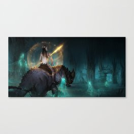 Forest Ruins Canvas Print