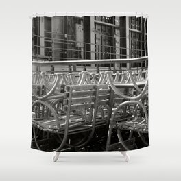 stacked seats Shower Curtain