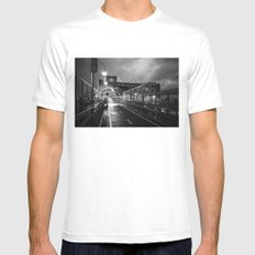 Welcome to Brooklyn Mens Fitted Tee White SMALL