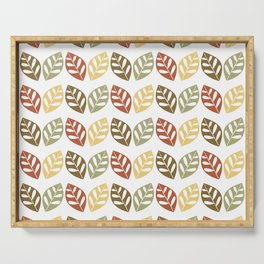Retro Leaves Pattern Serving Tray