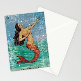 La Sirena Mexican Loteria Bingo Card Stationery Cards