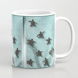 Loggerhead sea turtle hatchlings Coffee Mug