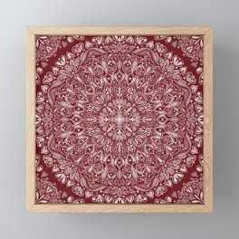 Circle Pattern - Red Framed Mini Art Print