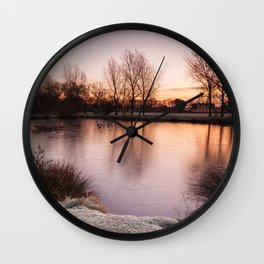 Pastel Sunrise Wall Clock