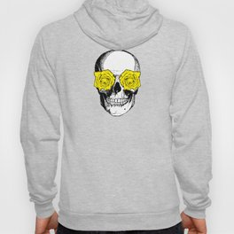 Skull and Roses | Grey and Yellow Hoody