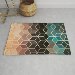 Colorful and golden pattern II Rug