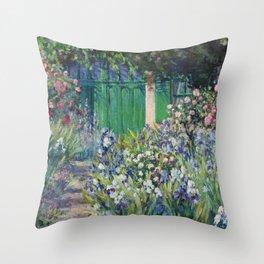 Monet's Door — Giverny, France Throw Pillow