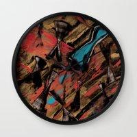 swimming Wall Clocks featuring Swimming by Sabrina Kee