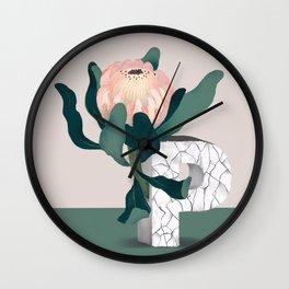 Vase P Protea Wall Clock