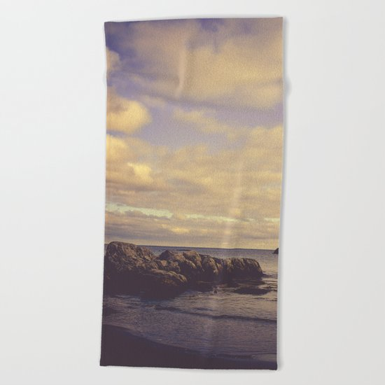 Her Dreams Stretched as Far as the Sea Was Wide Beach Towel