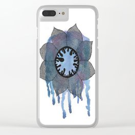 Winter Bloom Clear iPhone Case